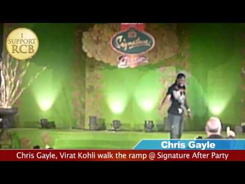 Virat Kohli and Chris Gayle walk the ramp, IPL