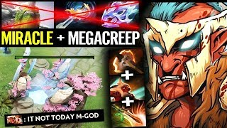 THEY CAN'T PUSH!! - [Troll Warlord] Defend MegaCreeps ComeBack Dota 2