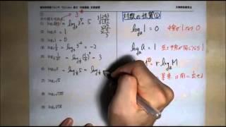 数Ⅱ 対数関数:基本問題