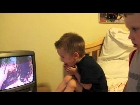 Kids Funny Reaction to Spiderman Kissing