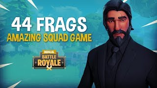 Amazing 44 Frag Duo Squad Game!! - Fortnite Battle Royale Gameplay - Ninja & SypherPK