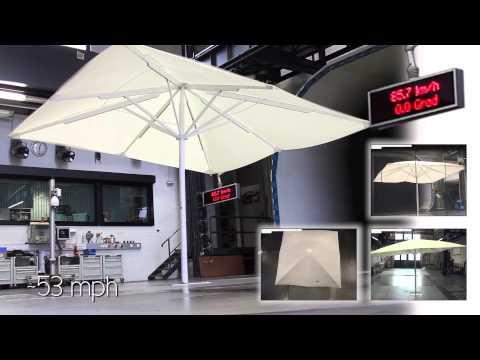 CARAVITA TestLab | Sunshade Big Ben 2 in wind tunnel