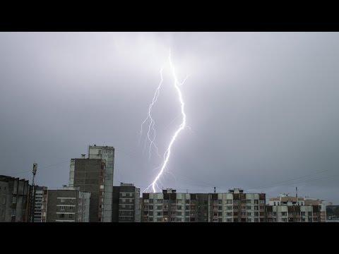 Гомель ливень гроза (17 мая 2014) - Gomel rainfall storm