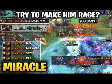 MIRACLE 3x RAMPAGE ANTI MAGE - DO NOT TRY TO MAKE HIM TILTED