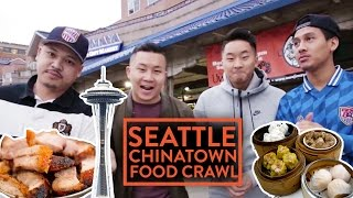 CHEAP CHINATOWN FOOD CRAWL w/ FRIENDS - Seattle | Fung Bros