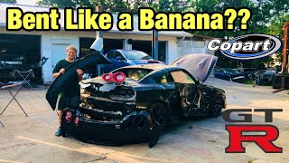 Rebuilding My Totaled Wrecked 2017 Nissan GTR From Copart Salvage Auction