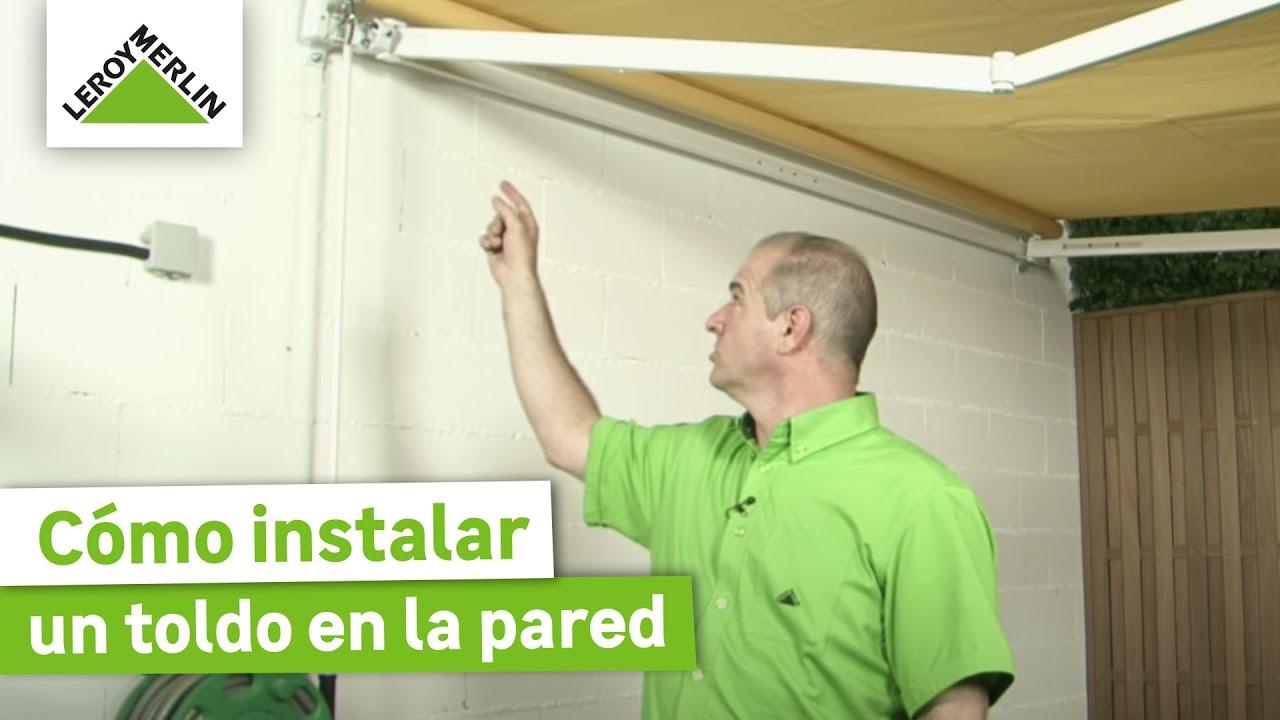 C mo instalar un toldo en la pared leroy merlin youtube for Tela de toldo en leroy merlin