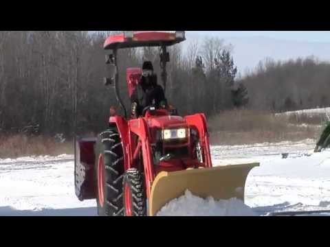 HLA Series 3000 Snow Blade (Horst Welding) Snow Plowing on Kubota L4400 Tractor