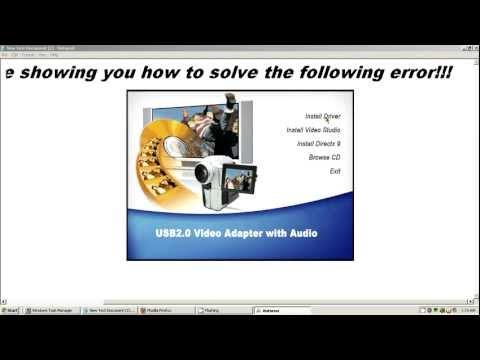 EasyCAP DC60 - USB 2.0 driver fix for win xp