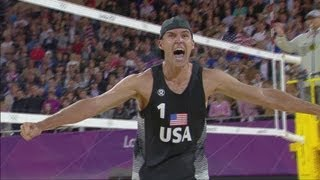 Men's Beach Volleyball Round of 16 - RUS v USA | London 2012 Olympics