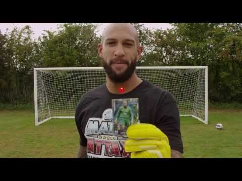 Tim Howard demonstrates his Match Attax Super Skills
