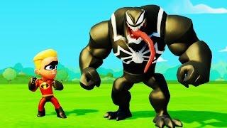Мультик игра для детей Дэш Парр Шастик против Венома и Тачки Машинки Дисней Dash VS Venom & Cars