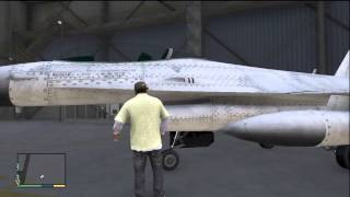 GTA 5 HOW TO GET THE MILITARY FIGHTER JET IN YOUR HANGER *EXCLUSIVE / UNSEEN* RARE