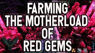 Ark aberration red gem and crystal farming : This is where the motherload of red gems are located!