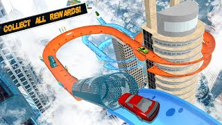 How to play Mega Ramp Amazing Car Tracks, Stunts & Racing Game(Level1 - Level4)- Android GamePlay