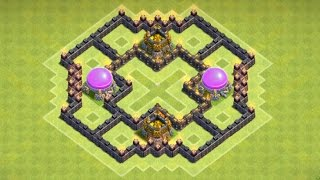 Clash of Clans - EPIC Town Hall 6 (TH6) Farming Base With Air Sweeper