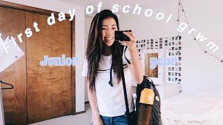 First day of school grwm + vlog 2018