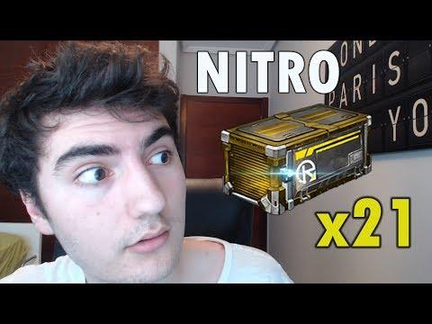 Abriendo 21 Cajas NITRO | Rocket League
