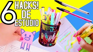 6 LIFE HACKS / DIY - Estudio y organización!!  | Nancy Loaiza