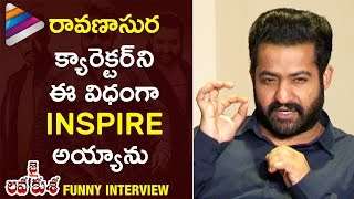 Jr NTR about Raavana Role Inspiration | Jai Lava Kusa Movie Interview | Telugu Filmnagar