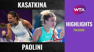 Jasmine Paolini vs. Daria Kasatkina | 2020 Palermo First Round | WTA Highlights