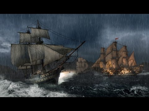 Assassin's Creed III Gameplay PC Missão Naval na tempestade