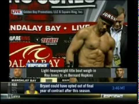 Roy Jones Jr vs Bernard Hopkins 2 Weigh-In Video