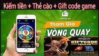 Kiếm tiền online và thẻ cào thẻ gift code game với ứng dụng ví Appota
