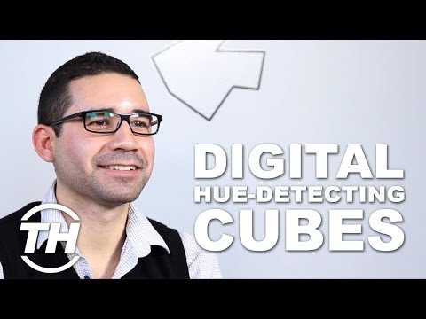 Digital Hue-Detecting Cubes - The SwatchMate Color Capturing Cube is a Great Gift for Artists