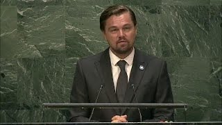 Leonardo DiCaprio (UN Messenger of Peace) at International Day of Peace 2016 - Student Observance