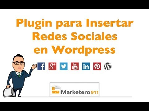 Plugin Redes Sociales Wordpress