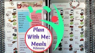 Meal Plan With Me February 2019 Leafy Treetops Planner Hello Fresh Menu