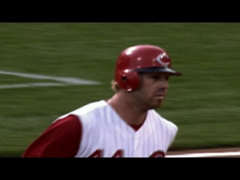 LAD@CIN: Adam Dunn hits a tape-measure shot to center