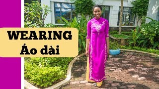 Wearing a Vietnamese Áo dài for the First Time! | Vietnamese Traditional Dress | charlycheer