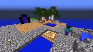 Minecraft Skyblock 2.1 Speedrun Timelapse! (including bloopers!)