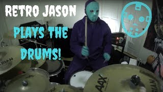 Retro Jason plays his theme song on the drums...Happy Halloween!