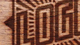 Photoshop Tutorial: Wood Brand!  How to Burn an Image into Wood