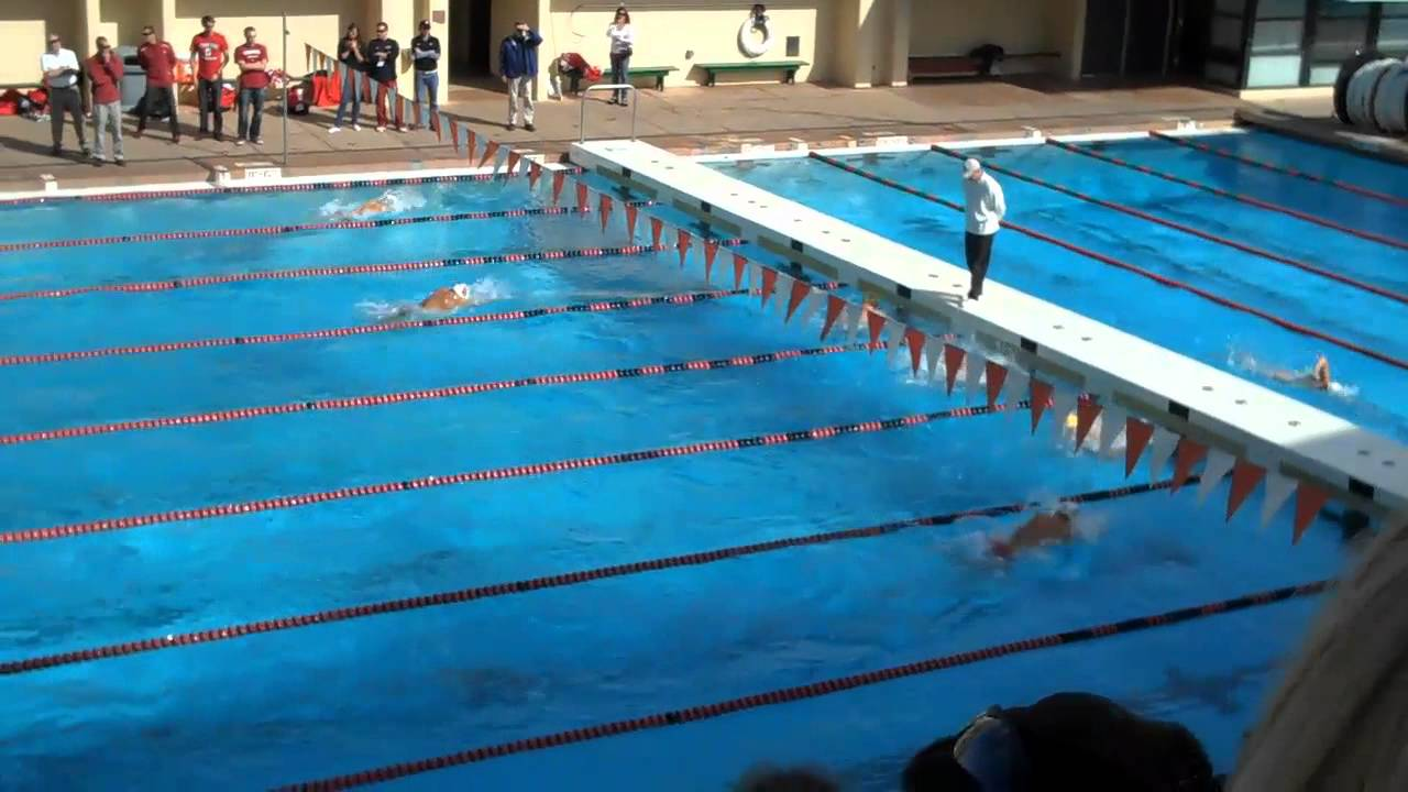 Cal Vs Stanford Swim Meet 2012 400 Medley Relay Youtube