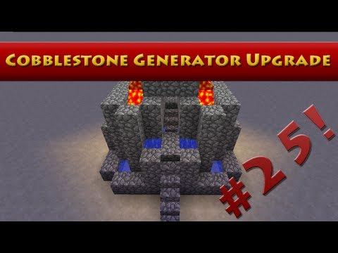 Minecraft Tutorial #25 - How to Build an 8 Person Cobblestone Generator - 1 Lava Bucket (HD)
