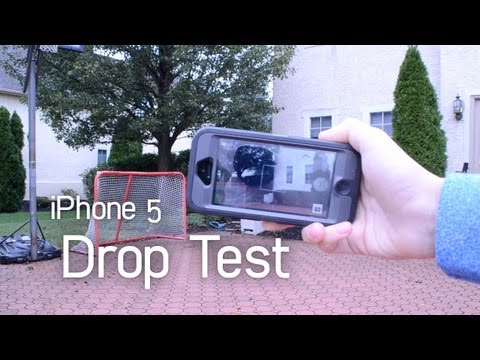 iPhone 5 DROP TEST   Otterbox Defender vs Griffin Survivor