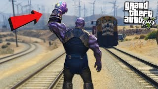 THANOS DESTROYS TRAIN w/ INFINITY - GTA 5 Mods