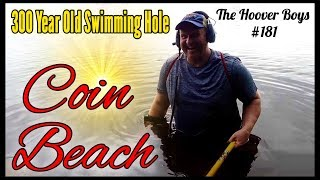 YOU WON'T BELIEVE WHAT WE FOUND METAL DETECTING A 300 YEAR OLD SWIMMING HOLE