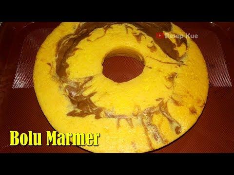 Resep Bolu Marmer 3 Telur - Cara Membuat Bolu