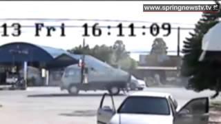กล้องวงจรปิด นาทีชีวิต คนร้ายใช้อาวุธสงครามยิงถล่มกำนันสงขลา 23 สค 56