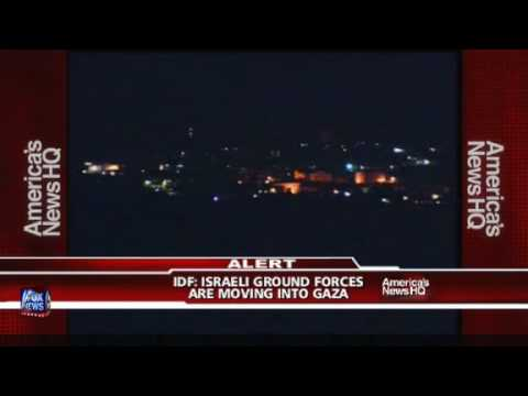 Breaking News - Israeli ground forces cros border into Gaza strip Video