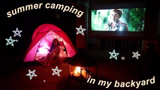Summer Camping Trip In My Backyard