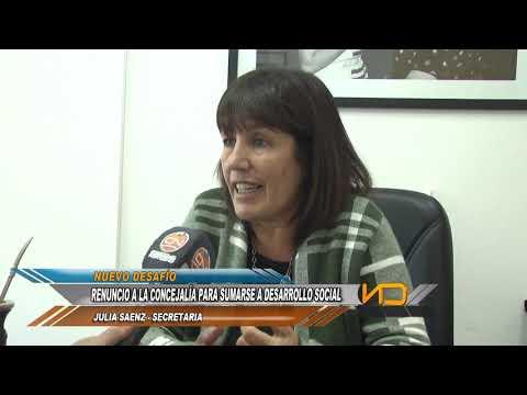 Julia Sáenz asume como secretaria de Desarrollo Humano y Salud