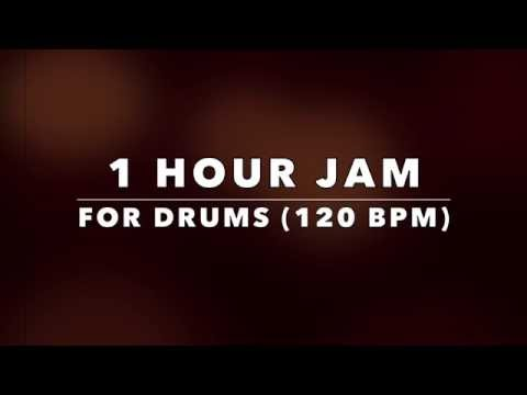 1 Hour Drum Practice Backing Track for Drummers - 120 BPM (NO DRUMS)