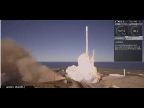 SPACEX : Launch and First Stage Landing of SpaceX Falcon 9 / Iridium launch