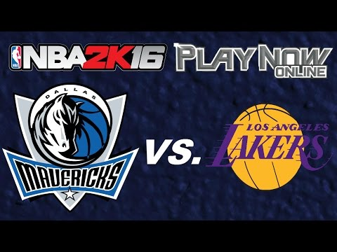 NBA 2K16 Play Now Online (PNO) Online Ranked Match: 2002-2003 Dallas Mavericks vs Los Angeles Lakers